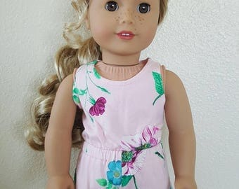 Rompers for 18 inch dolls by The Glam Doll - Pink Floral Knit