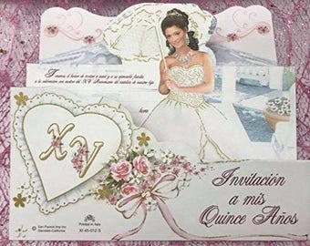 Mis Quince Invitations 8 Per Pack Invitaciones de Quince En Espanol