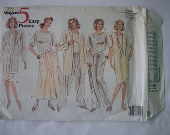 Vogue 5 Easy Pieces Sewing Pattern