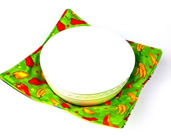Yellow and Red Chili Peppers - MicroBowl Hot Pad (REVERSIBLE)