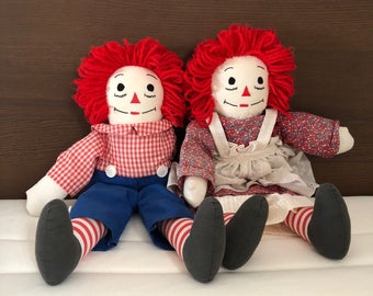 Raggety Ann and Raggety Andy Dolls Excellent Condition 80s Toys