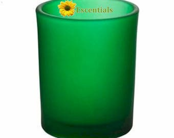 Green Frosted Votive Candle Holder