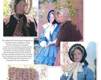 Ladies' Victorian 1845-50 Drawn Bonnet - Lynn McMasters Sewing Pattern # 57
