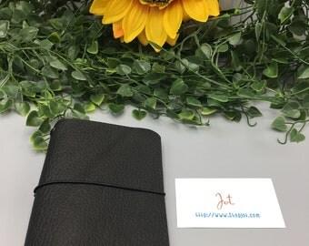 PJ07 - Black Beauty - PocketJot Traveler's Notebook/Planner Cover/Journal
