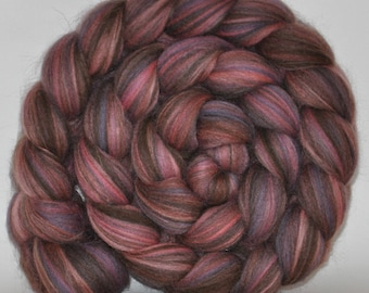 23 Micron Merino  Dyed/ 24 Micron Natural Brown Merino (50/50)  Roving   5.0 ounces - Spin Me  Custom Blend   Combed Top