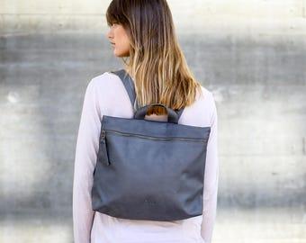 Leather Backpack Women, Laptop Backpack Bag, Handmade Backpack, Laptop Bag, Zipper Backpack, Leather Bag, Handmade Bag