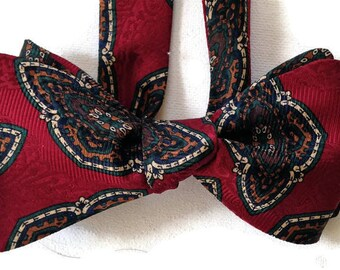 Silk Bow Tie for Men - Puccini -One-of-a-Kind, Self-tie - Free Shipping