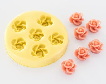 Small Rose Silicone Mold 6 Cavity