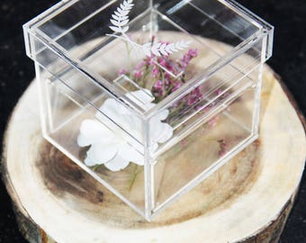 Customized clear Acrylic ring box