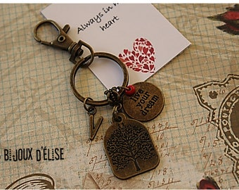 Personalized Live Your Dream Keychain Student Keychain Yoga Bag Dangle Feng Shui (KC51)