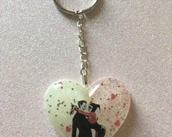 Harley and Joker Resin Keychain