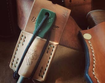 Leather firesteel belt loop Holster