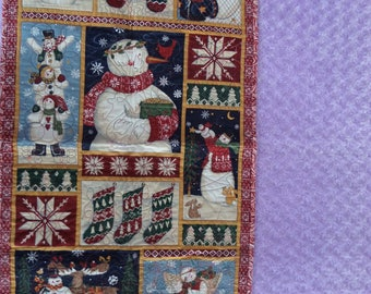 Snowman Quilted Table Runner