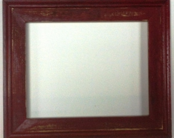 "1-3/4"" Maroon Distressed Picture Frame"