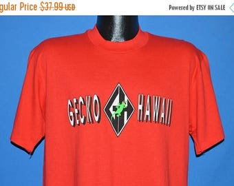 ON SALE 80s Gecko Hawaii Surfer t-shirt Large