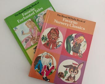 Rand McNally Books of Favorite Nursery Classics and Favorite Enchanted Tales- Hardcover, Illustrated - 1970's