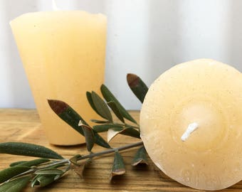 Wax Candles that fit perfectly in Sugar Molds (Cream & White)
