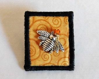 Honeybee Fabric Pin