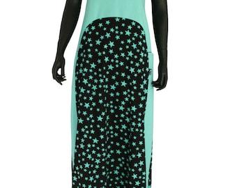 Long Halter Pya at Chilia Blue Star cotton dress