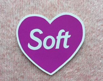 Soft - Purple Heart sticker - Femme vinyl sticker - Lovestruck Prints