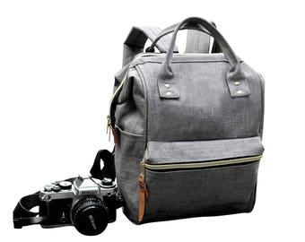 Digital SLR Camera Bag Backpack,  DSLR Camera Bag Purse, Unisex Camera Backpack. Stay Open While You Search