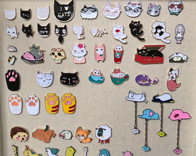 Featured listing image: Cat Enamel Pins for Bags & Planners PA7008P