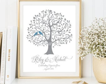 25th Anniversary Print, Unique Wedding Day Gift, Personalized Custom sign, Printable art Present for Parents Gift for Her Him DIGITAL FILE 8