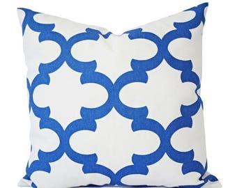 15 off sale two blue throw pillows quatrefoil decorative pillow covers blue pillows
