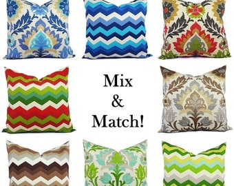 15% OFF SALE Outdoor Pillow Cover   Blue Pillow   Brown Outdoor Pillow    Patio