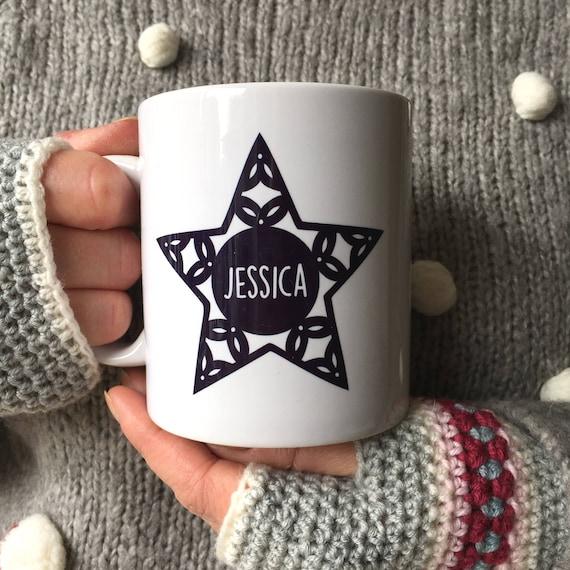 Scandi star christmas mug - personalised mug - christmas mug
