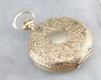 Ornate Antique Hunter's Rose Gold Pocket Watch MRDEVE-N