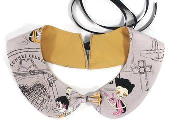 creepy cute peter pan collar - detachable peter pan shirt collar - zombie accessories - halloween collar - zombie love