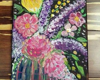 Floral Burst Painting