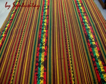 South American Ethnic Table Cloth Frazada Blanket bed cover 250x140 cm Brown Blue Red Ecrue Table Clothes wool crafted decoration Boho chic