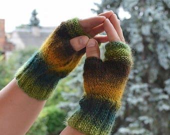 SALE 20% OFF ingerless gloves, knit mittens, gloves, autumn gloves, winter accessories, autumn mittens, autumn accessories, warm mittens, Ex