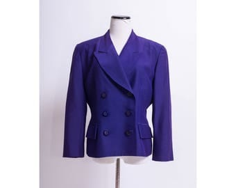 CHRISTIAN DIOR Purple Vintage Blazer / Coat / Jacket