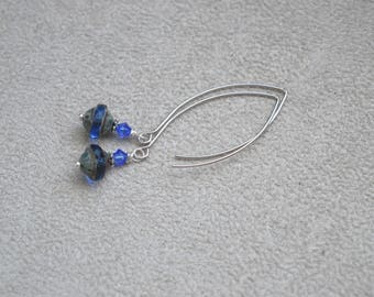"Earrings ""Rivieira"" Czech glass, Swarovski Crystal, silver rhodium-plated"