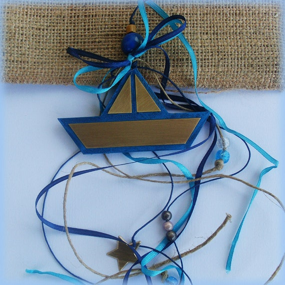 Lucky Charm / Paper Boat Lucky Charm / Paper Boat / WOODEN BOAT Lucky Charm / Wooden Boat Ornament / Wooden Boat Decoration