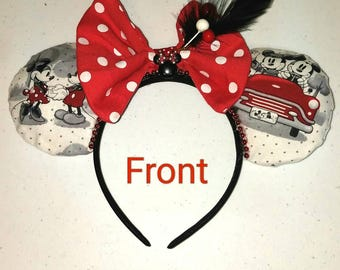Vintage Look Mickey and Minnie Mouse Ears