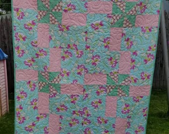 Modern Baby Quilt Handmade Quilted Baby Blanket Toddler Teen Quilt
