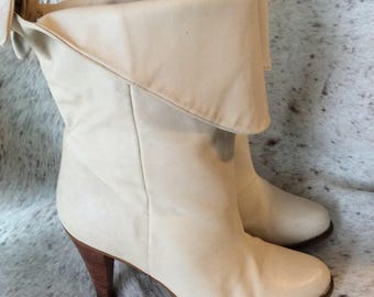 Vintage leather boots high heel pixie size 7