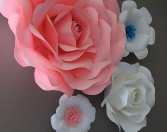 Paper Flowers (set of four)