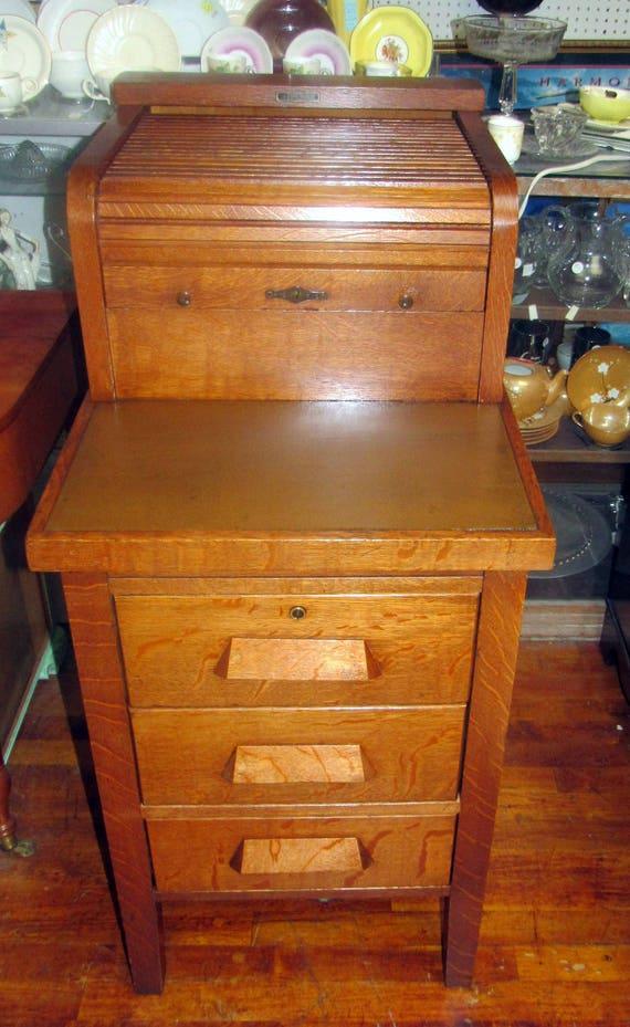 McCaskey Register Co Filing Cabinet Desk
