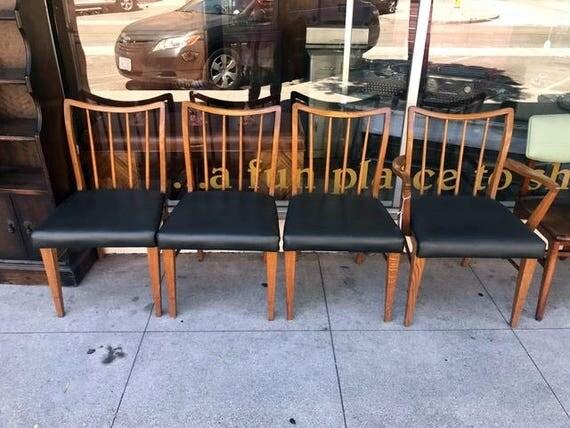 Tiger Oak Mid Century Modern Chairs