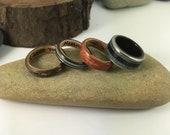 Custom Damascus and zebra wood ring