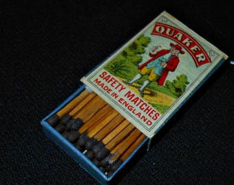 Antique Swedish Safety Matches, Circa 1910, Unstruck, Full Boxes