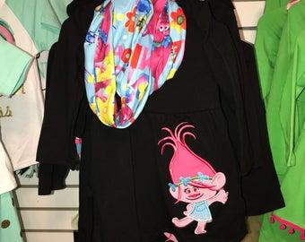 Trolls Inspired Princess poppy 3 pc clothing set
