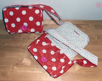 Kids polka dot shoulder bag