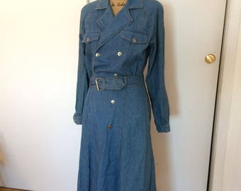Vintage 1980 trench dress size 10
