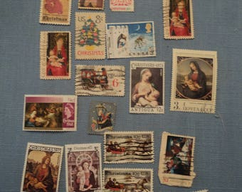 Vintage Canceled Christmas Stamps